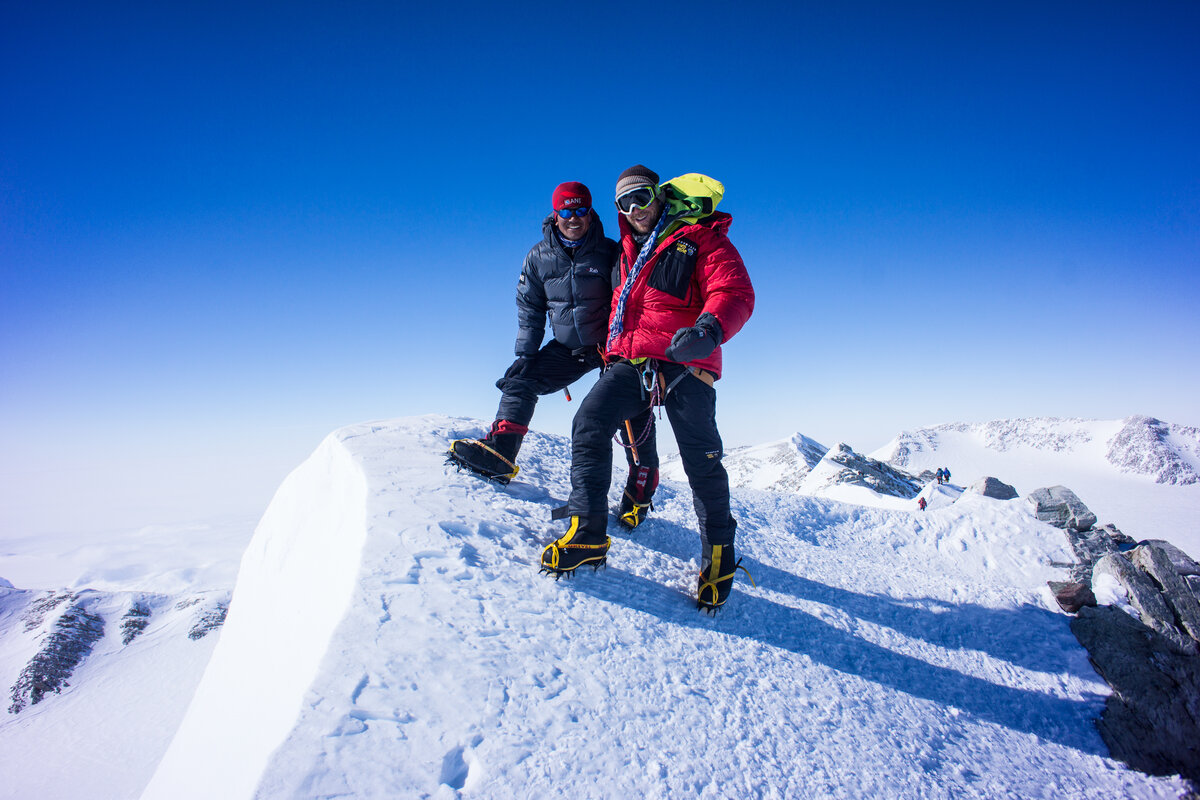ALE guides on the summit of Mount Vinson