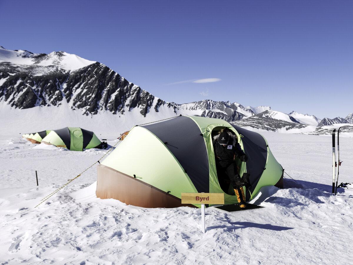 Guest clam tent at Union Glacier Camp