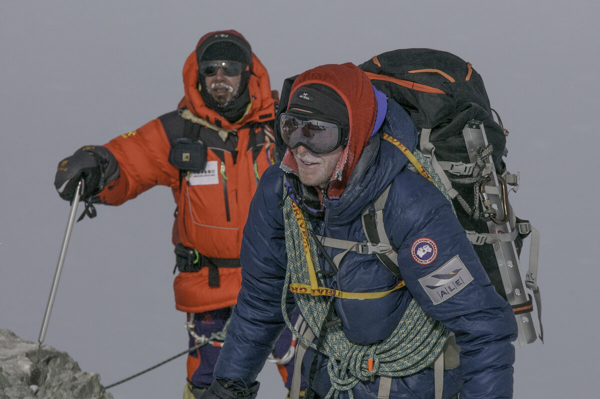 Nearing the summit of Mount Vinson