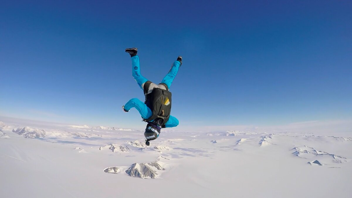 Hanging in the sky over Union Glacier
