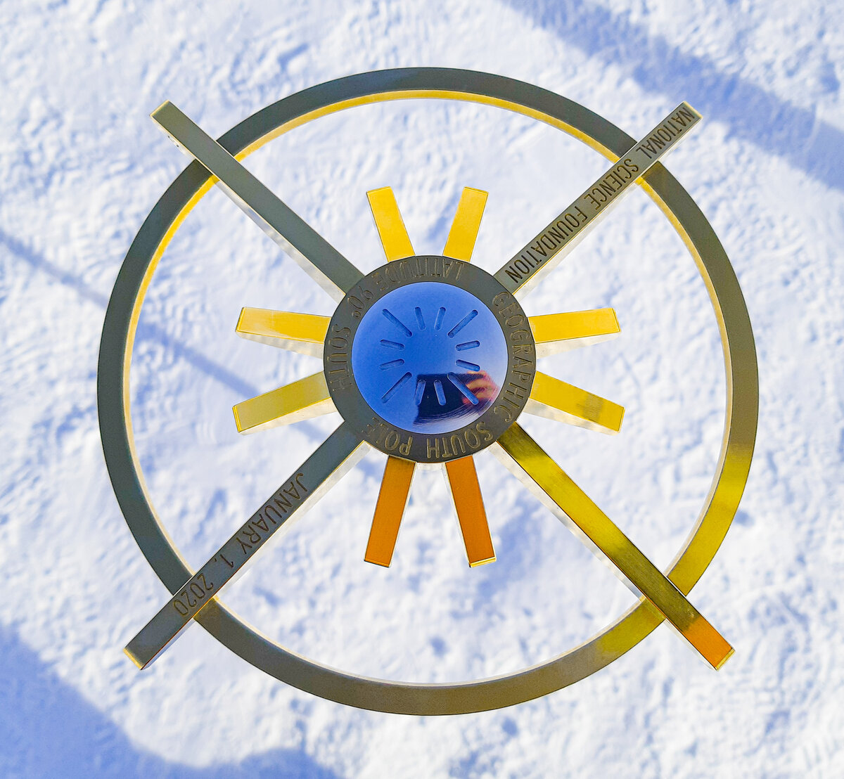 2020 Geographic South Pole Marker