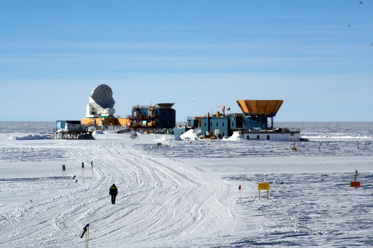 South Pole telescope and Dark Sector lab