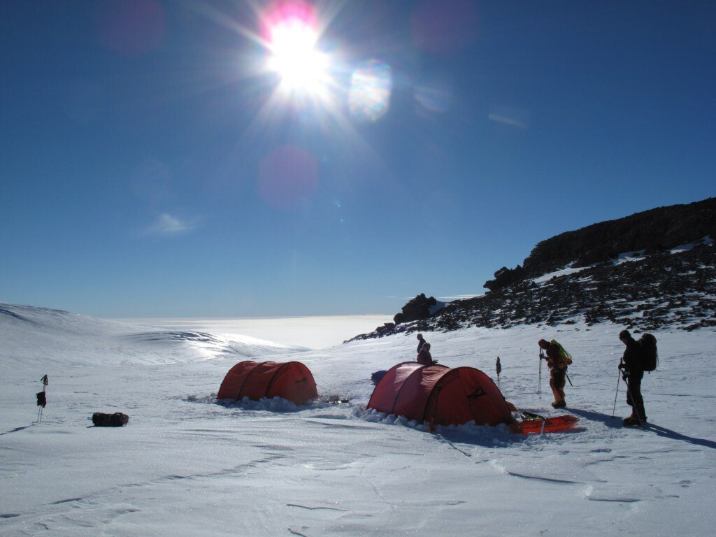 High camp for ascent of Sidley's East Ridge
