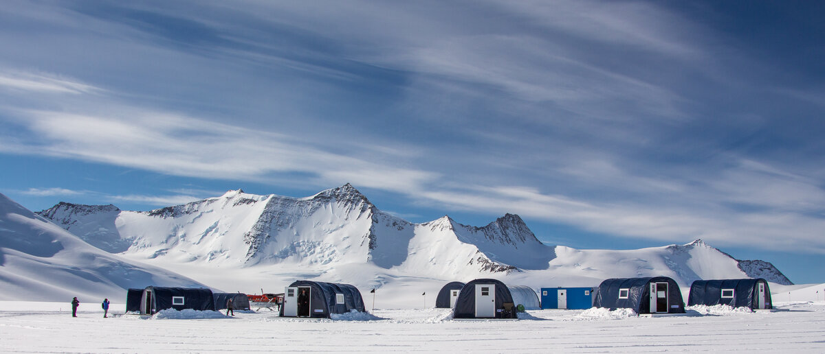 Mount Sporli provides a scenic backdrop to Three Glaciers Retreat