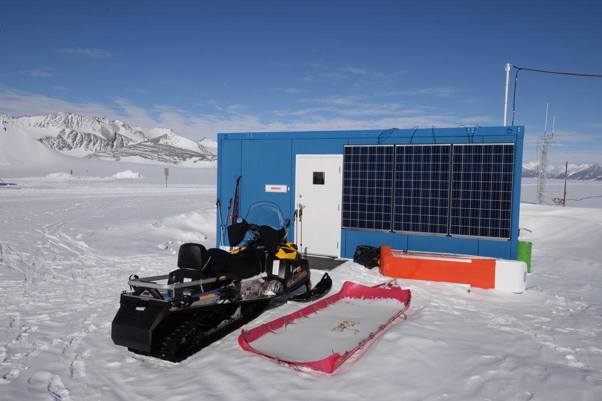 Medical facility at Union Glacier Camp