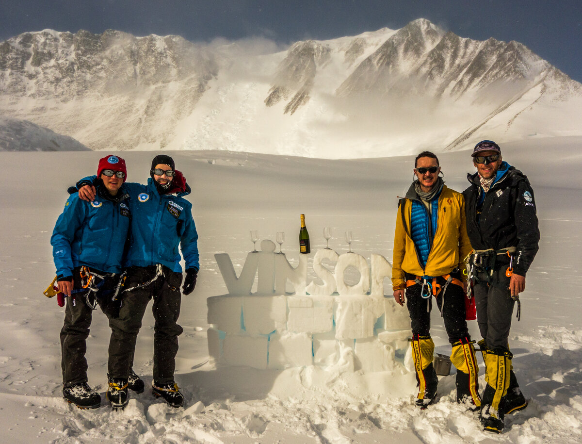 ALE guided team celebrates a successful summit