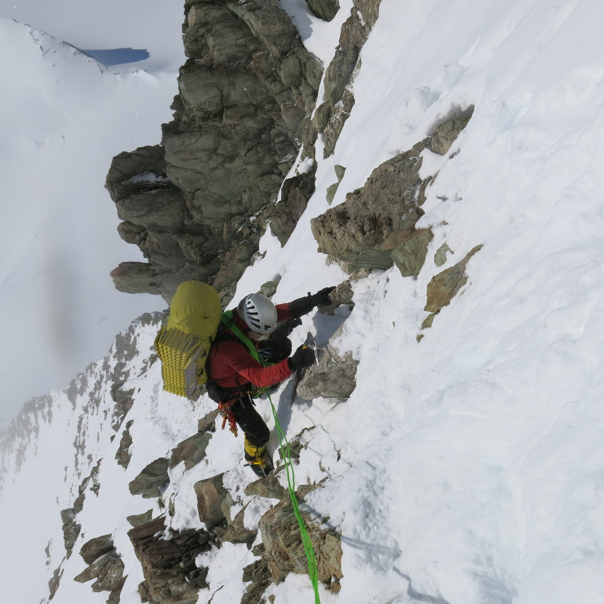 1st guided ascent of Mount Tyree, Antarctica's second highest peak