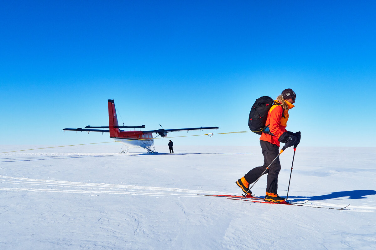 Skier starts Ski South Pole Messner expedition