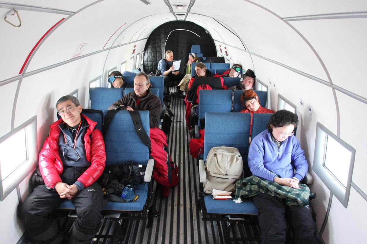 Guests onboard Basler BT-67