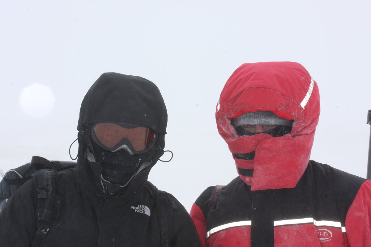 Keep skin covered to prevent frostbite