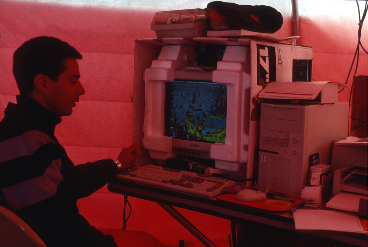 1st satellite imagery for weather forecasting, 1995