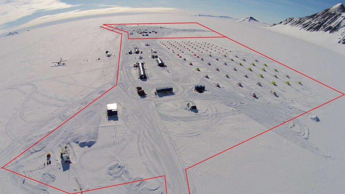 Union Glacier Camp safety perimeter