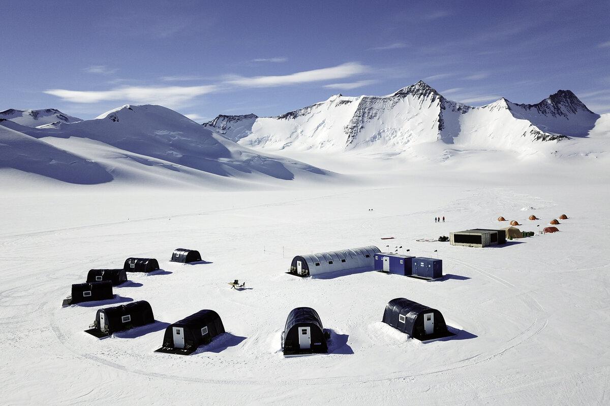 Three Glaciers Retreat nestled below Mount Sporli