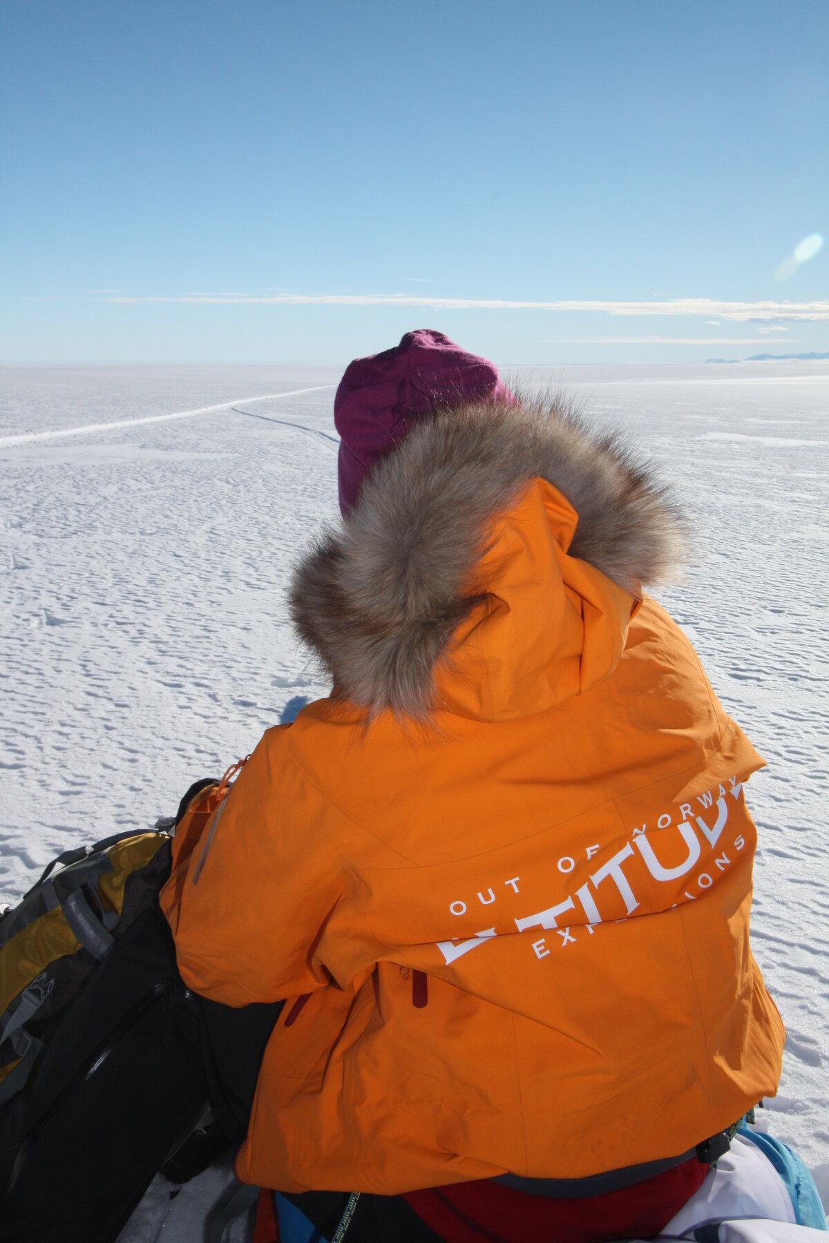 Looking back toward the Ross Ice Shelf